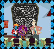 Классная комната  игра Школа Монстров Хай, игра Монстер Хай, Монстр Хай онлайн бесплатно