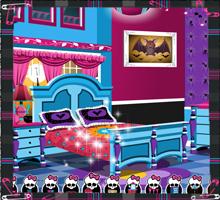 Комната Дракулауры  игра Школа Монстров Хай, игра Монстер Хай, Монстр Хай онлайн бесплатно