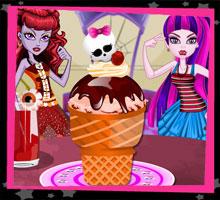 Монстр-мороженное  игра Школа Монстров Хай, игра Монстер Хай, Монстр Хай онлайн бесплатно